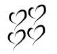 Flex 2,5cm 4 coeurs peints
