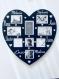 Cadre personnalisé forme coeur modèle 8 prénoms dimension 33cm