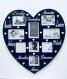 Cadre personnalisé forme coeur modèle 10 prénoms dimension 33cm