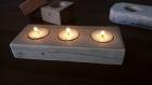 Bougeoir rectangle en bois de palette recyclé, bougeoir de table