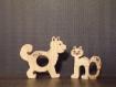 Ronds de serviette en bois en forme d'animaux