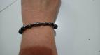 Bracelet onyx & magnétite
