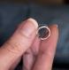 Bague d'oreille en titane helix - anneaux de cartilage sans piercing  - petites perles argent à facettes - hypoallergénique