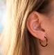 Spark - créoles en titane pur et hématites violettes et cuivre - boucles d'oreilles hypoallergéniques