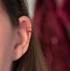 Bague d'oreille en titane helix - anneaux de cartilage sans piercing  - perles d'hématite verte et cuivre - hypoallergénique