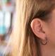 Spark - créoles en titane et hématites bleues et gris anthracite - boucles d'oreilles hypoallergéniques