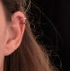Bague d'oreille en titane helix - anneaux de cartilage sans piercing  - petites perles argent à facettes et hématites - hypoallergénique