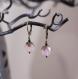 Boucles d'oreilles fruit défendu - dormeuses bronze et perles roses