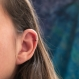 Bague d'oreille en titane helix - anneaux de cartilage sans piercing - perle d'hématite - hypoallergénique