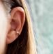 Bague d'oreille en titane pour conque - perle argent - hypoallergénique - pour oreilles non percées