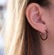 Spark - créoles en titane pur et hématites vertes et cuivre - boucles d'oreilles hypoallergéniques