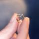 Bague d'oreille en titane helix - anneaux de cartilage sans piercing  - perle d'argent à facettes - hypoallergénique