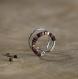 Bague d'oreille en titane helix - anneaux de cartilage sans piercing - perles d'hématite prune et cuivre - hypoallergénique