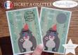 Ticket mini carte à gratter annonce grossesse originale bébé : tu vas être tonton modèle singe tickets collection félicitation