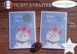 Ticket carte à gratter annonce grossesse originale bébé : tu vas être mamy modèle chat tickets collection félicitation