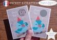 Ticket à gratter annonce grossesse originale : bébé est en route modèle oiseau tickets collection félicitation