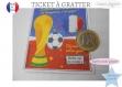 Ticket carte à gratter annonce grossesse modèle champion spéciale coupe du monde texte caché bébé est en route