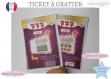Ticket carte jeu à gratter personnalisé annonce grossesse originale bébé : tu vas être mamy,tata modèle 777 remporter le jackpot au casino