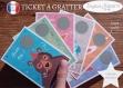 Ticket carte à gratter annonce grossesse originale bébé : tu vas être papy modèle ours tickets collection félicitation