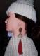 Boucle d'oreille vintage pompon
