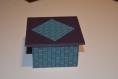 Boîte à bijoux carrée en cartonnage, boîte à bonbons, à trésor, petite boîte