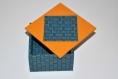 Boîte à bijoux carrée en cartonnage, petite boîte à trésor, tirelire