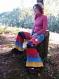 Pantalon d'hiver à patte d'éléphant en jean et en patchwork de laine recyclée multicolore!!!