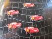 5 breloques cars  métalique