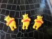 3 breloques winny ourson en plastique