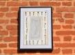 Miroir, cadre décoratif, châssis entoilé décoré peint à la main avec en arrière-plan un miroir, très suggestif et surprenant, contemporain et original, décoration murale