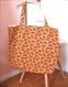Sac tote bag cabas pastèques sur fond jaune citron