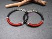 Duo de bracelets cuir et fil marron moka pour couple