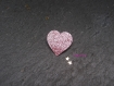 Broche petit coeur scintillant en différents coloris