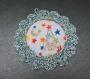 Cadre au crochet bleu/vert, fusée, décoration enfant