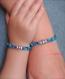 Duo de bracelets mère/fille en cordon liberty kayoko kaki et perle coeur