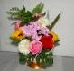 Composition en fleurs de savon fait main idée cadeau original et unique pour le plaisir d'offrir