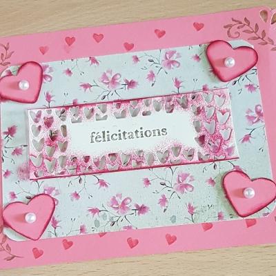 Carte felicitations my heart
