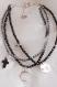 Bracelet trois rangs en hématite
