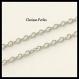 1 metro cadena eslabones acero inoxidable tono plateado 3x2mm 0,5mm grosor