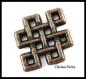 10 connecteurs breloques celtic en métal cuivre 10x12,5mm trou 1mm