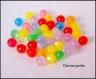 50 perles rondes en résine multicolores 6x6mm
