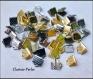 20 terminales metálicos cinta cuero plano plateado dorado cobre bronce 6x6x5mm agujero 2mm