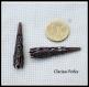 10 coupelles cônes filigranées 8x52mm tone argenté / cuivre