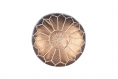 Pouf en cuir rose véritable pouf marocain,pouf marocain en cuir fait à la main,ottoman pouf.bronze métallisé