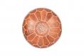 Cuir véritable pouf marocain, fait à la main pouf ottoman, tabouret, pouf pouf marron/blanc