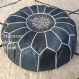 Moroccan leather pouf ottoman,for luxury, moroccan interior decoration