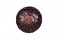 Cuir véritable pouf marocain, fait à la main pouf ottoman, tabouret, pouf pouf noir/rouge