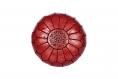 Cuir véritable pouf marocain, fait à la main pouf ottoman, tabouret, pouf pouf rouge/noir