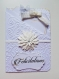Carte de félicitations 10,5 x 15 cm avec 2 étiquettes