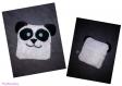 Bouillotte sèche écologique, matiere doudou et lin, bouillotte bébé anti colique ,bouillotte sèche , garnie de riz, micro-onde forme panda